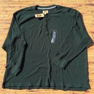 Foundry 4XL Big Tall Henley Thermal Shirt